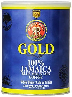 Reggie's Roast 100% Jamaica Blue Mountain Gold Whole Bean Coffee, 12-Ounce Can