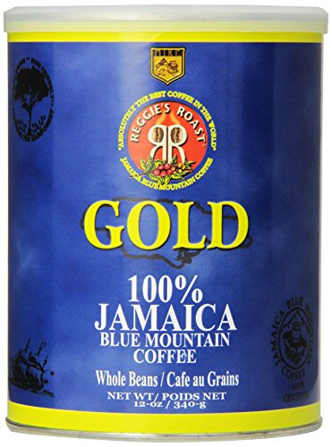 Reggies Roast - Reggie's Roast 100% Jamaica Blue Mountain Gold Whole Bean Coffee, 12-Ounce Can