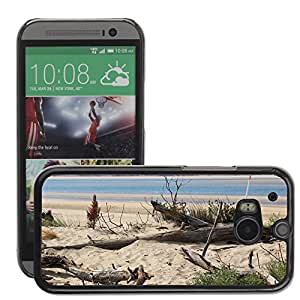 Etui Housse Coque de Protection Cover Rigide pour // M00151876 Naturaleza Playa Madera Mar Océano // HTC One M8