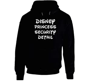 Disney Princess Security Detail Unisex Pull Over Hoodie L Black