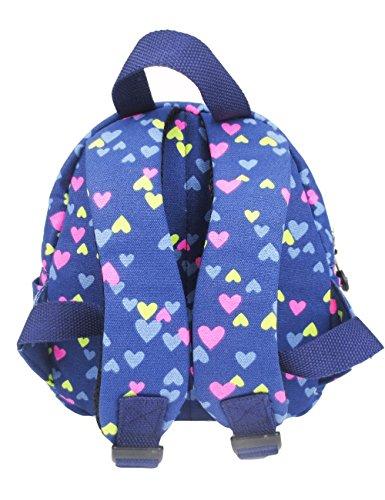 L.S.Risunup Niedlich Rucksack für Kinder Mädchen Nursery Kita Kleinkind Schulrucksäcke 004 Lila Blau M0EBAQdU1F