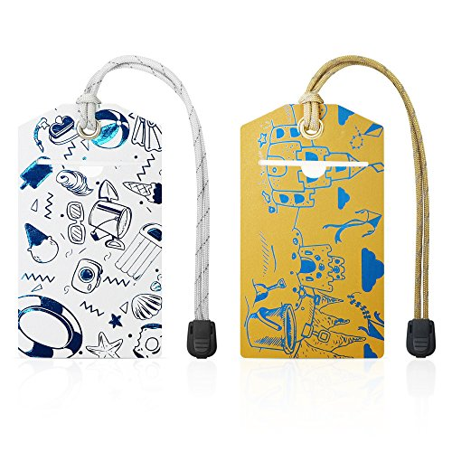 Premium Luggage Bag ID Tags with Tough Secure Nylon Strap by That's My Bag Tags Beach Theme Luggage Tag