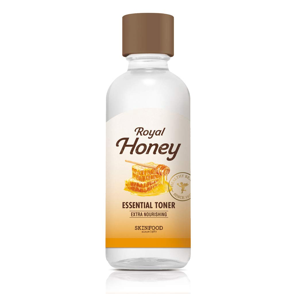 SKIN FOOD Royal Honey Essential Toner 180ml (6.08 fl.oz) - Concentrated Aged Honey Skin Nourishing & Hydrating Essential Toner, Skin Smooth & Glowing for Dr y and Rough Skin
