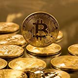 Golden Plated Bitcoin Coin-BTC Physical Metal Guritta Token ICO Digital Blockchain Crypto Currency You Hold For Commemorative Collection In Plastic Holder Cases|Great Funny Gift For Boy/Girl/Woman/Man