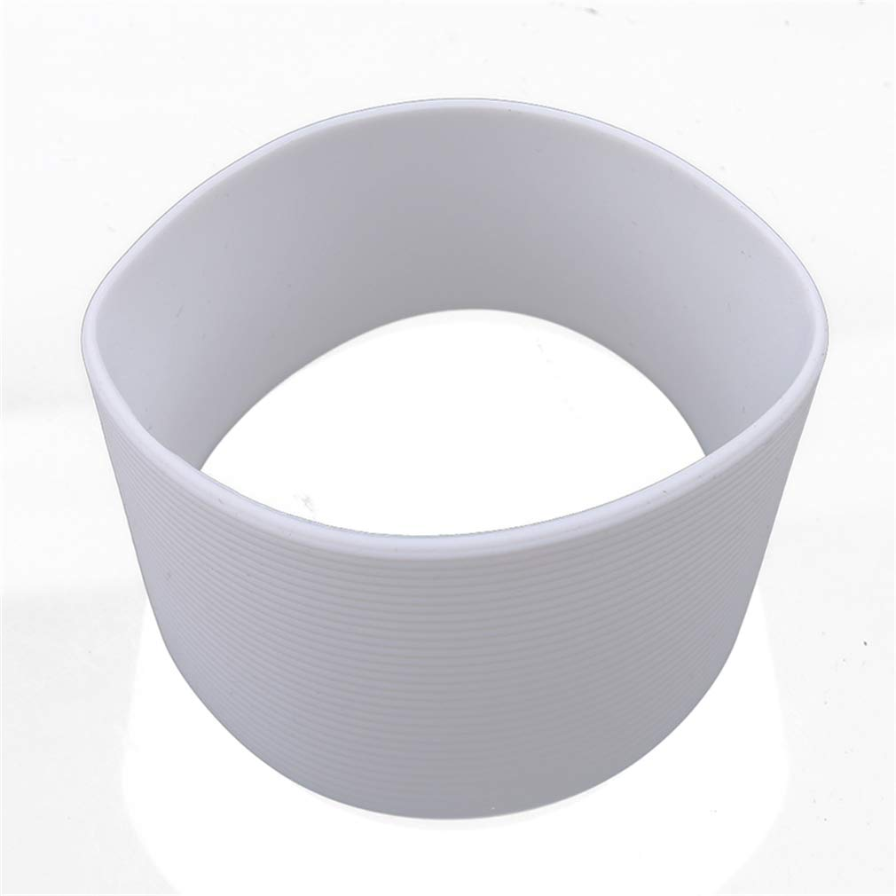 EH-LIFE Water Cup Cover Silicone Sleeves Heat Resistant Non-Slip Coffee Cup Ceramic Mug Wraps Sleeves 6.5cm White