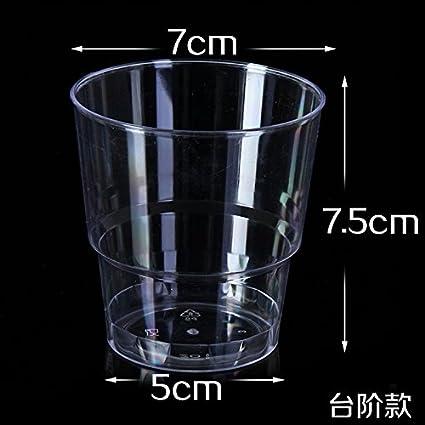 TBSB Los Vasos Desechables de 200 ml Vaso de plástico Duro Espeso tazón de Agua Transparente