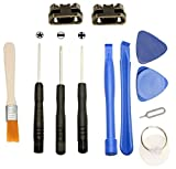 Games&Tech 2 x Micro USB Charging Charger Sync Port Dock Connector Replacement + Tools for Amazon Kindle Fire 7 5th SV98LN