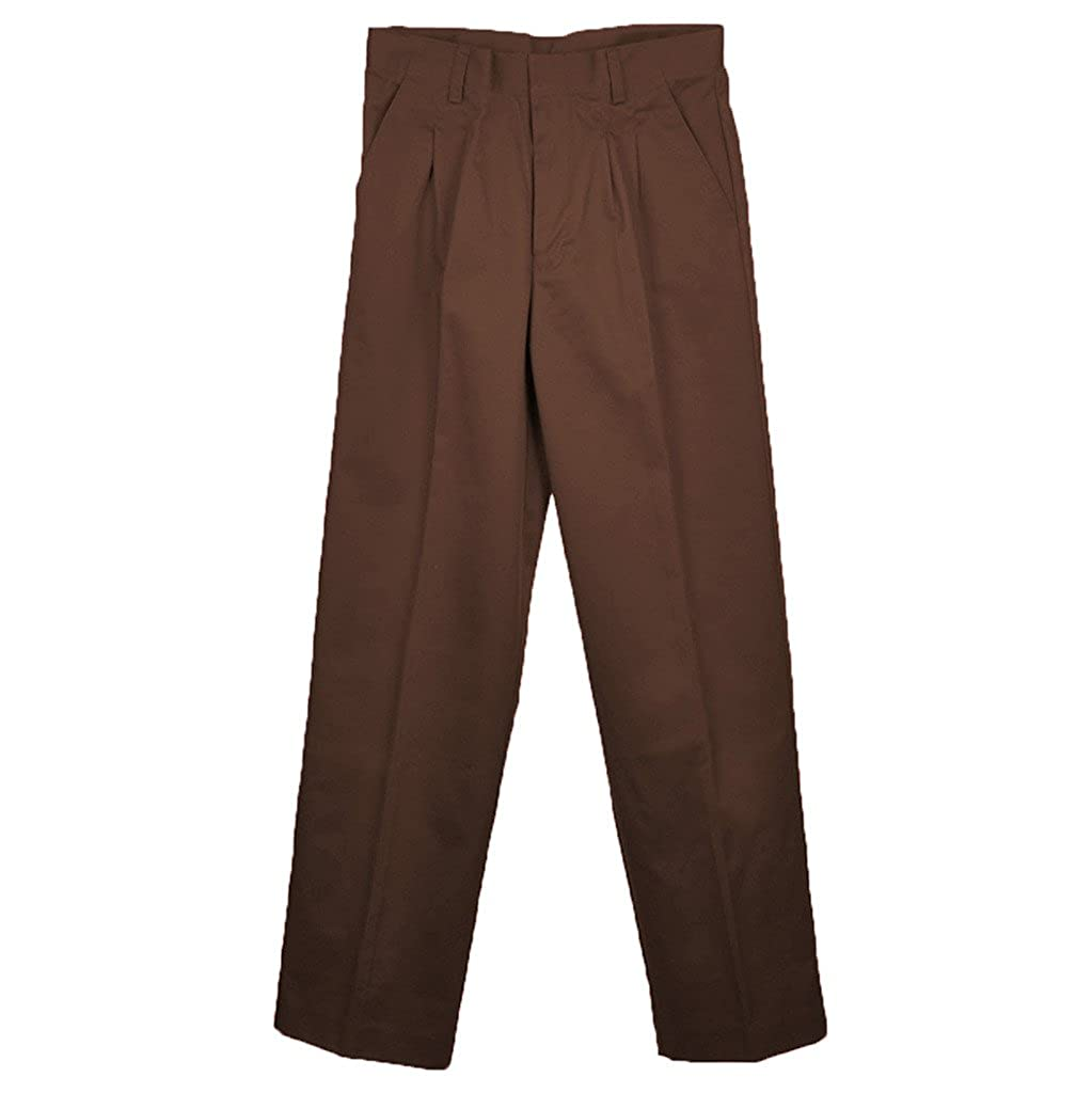 Universal School Uniforms Boys Pleated Pant 12 Brown