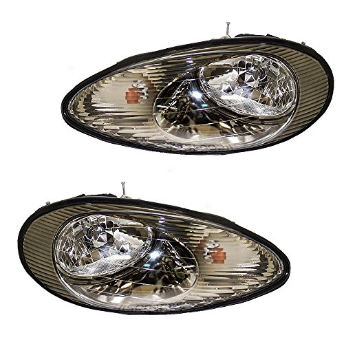 Driver and Passenger Headlights Headlamps Replacement for Mercury XF1Z13008DA XF1Z13008CA AutoAndArt