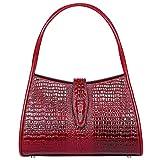 PIJUSHI Designer Shoulder Purses Hobo Handbags for Women Leather Tote Shoulder Bags (68022 New Red)