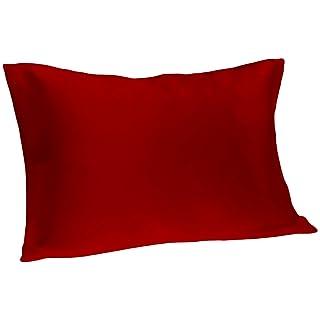 Spasilk 100% Pure Silk Pillowcase for Facial Beauty and Hair Health, Standard/Queen, Burgundy
