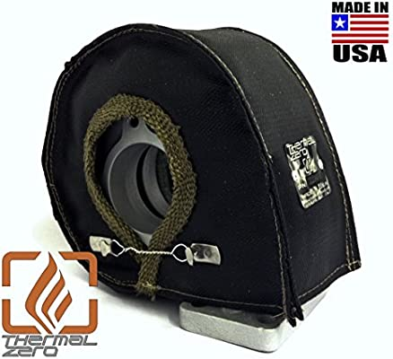 Thermal Zero Black UNIVERSAL T4 Turbo Blanket Holds 2400 degrees. MADE IN USA unlike the rest. Fits most T4 turbochargers including Garrett, Precision, ...