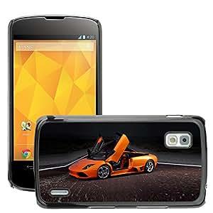 AutoCase Prima Delgada SLIM Casa Carcasa Funda Case Bandera Cover Armor Shell PC / Aliminium ///Exotic Supercar murcielago widescreen ///LG Google Nexus 4