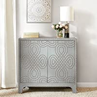 Stanford Nailhead Accent Chest Grey See below
