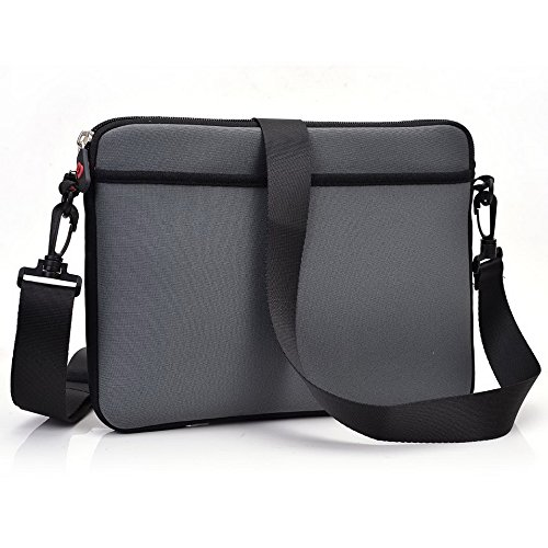 Kroo Tablet Sleeve mit abnehmbarem Tragegurt Neopren Schutzhülle für Micromax Canvas Tab P470Tablet grau grau grau XjeUy