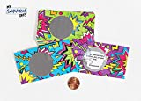 Lunchbox Note for Kids Students 80s Comic ZigZag Theme Scratch Off Lunch Box Love Note Cards with Inspirational Motivational Quotes. (pack of 25 cards) 10 Versions