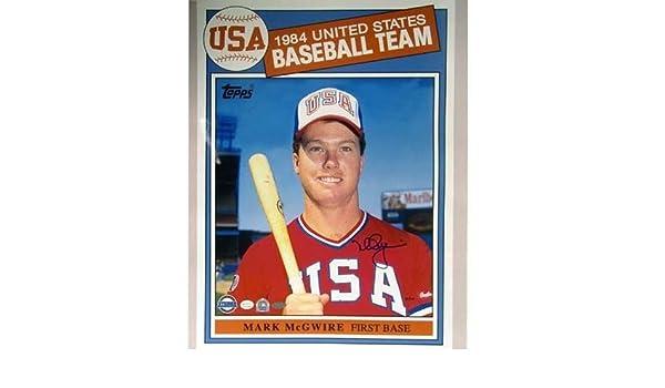 Mark Mcgwire 1984 Topps Usa Baseball Card 16x20 At Amazons Sports