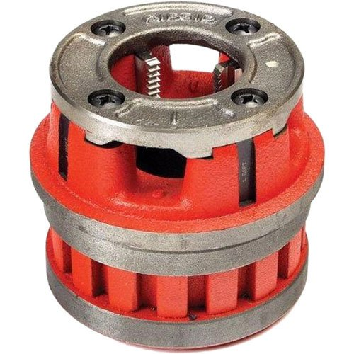 RIDGID 37415 Model 12-R Hand Threader Die Head, Alloy Right-Handed NPT Die Head for Nominal Pipe Size of 2-Inches (Threading Die Heads)