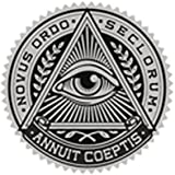 all accesories - ALL SEEING EYE IN TRIANGLE CREST BLACK GREY Vinyl Decal Sticker Two in One Pack (4 Inches Wide)