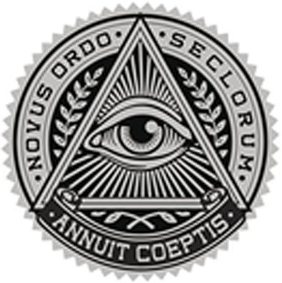 amazon com all seeing eye in triangle crest black grey vinyl decal