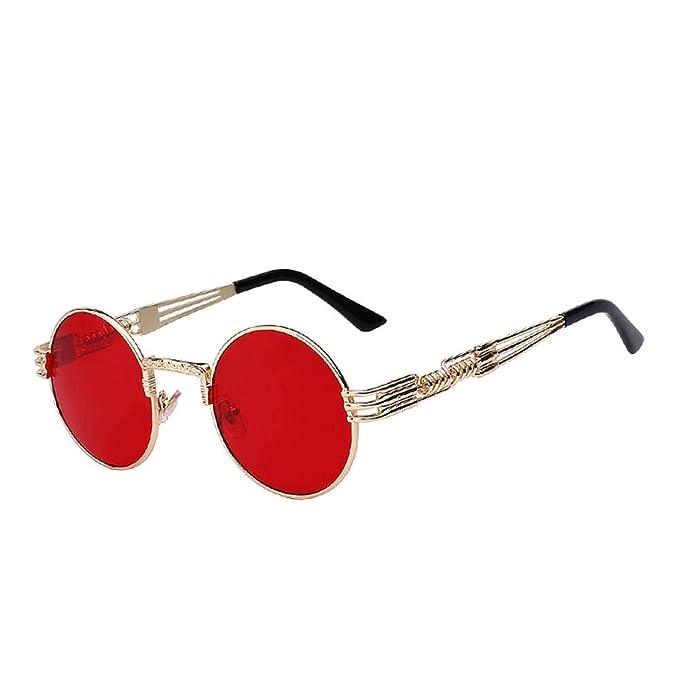Amazon.com: Gafas de sol retro estilo Steampunk redondas y ...