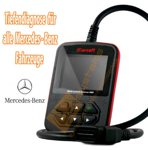 iCarsoft Mr-155H-Bqpv I980 Professional Diagnosing Device / Reads And Deletes Errors / All Control Devices / Plain Text Display [In German]