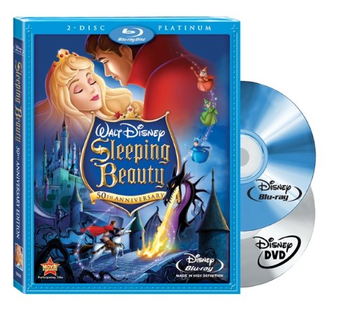 Sleeping Beauty (Two-Disc Platinum Edition Blu-ray/DVD Combo + BD Live) [Blu-ray] (Princess Blue Disney Movies Ray)