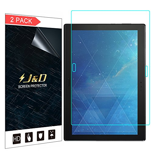"J&D Compatible for 2-Pack Lenovo Moto Tab 10.1"" Screen Protector"