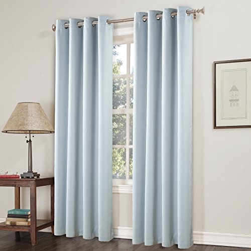 Espresso Drapes (Maevis Blackout Curtains 2 Panels for Bedroom Window Treatment Thermal Insulated Solid Grommet Blackout Drapes for Living Room (Greyish White, 52*95inch)       )
