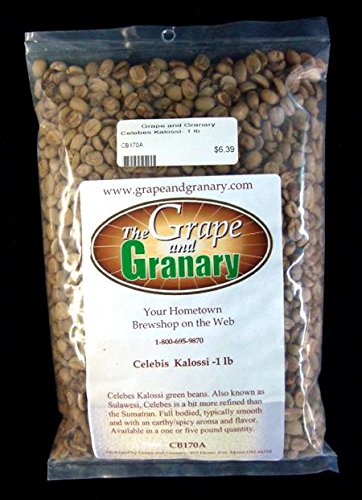 Celebes Kalossi unroasted Coffee Beans (1LB)