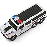 Bump And Go Super Police Car - Kidsthrill SUV With Lights And Sirens - Spins 360 Degrees - Big Model Vehicle - Changes Direction On Contact - Best For Kids Age 3 And Up.