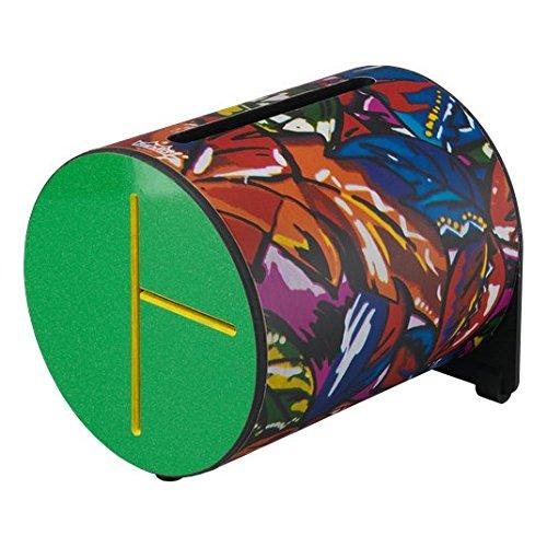 remo Drum, Rhythm Log, 7'' x 8'', With Mallets, Tropical Leaf, green