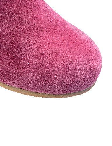 Cn43 Cerrada Vestido De 5 Eu36 Y Punta Camel Redonda Xzz us6 5 us10 Ante Casual Trabajo Uk8 Tacón Eu42 Cn36 Rojo Bajo Uk4 Oficina Caqui Azul Mujer Zapatos Botas Red S57w0