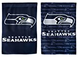 NFL Seattle Seahawks Glitter Accented Two Sided Garden Flag, Medium, Multicolored