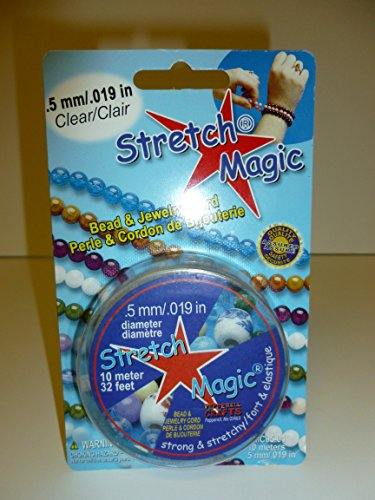 Cord Stretch Knot (Pepperell Stretch 0.5mm Magic Bead and Jewelry Cord, 10m, Clear)