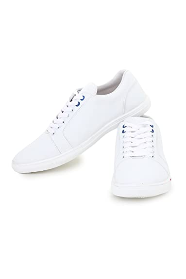 04e6d0aba ajay footwear Krafter Men's White Casual Shoes (1503): Buy Online at Low  Prices in India - Amazon.in