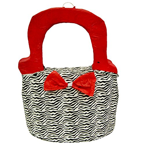 Pinatas Girls Zebra Print Purse Pinata, 19