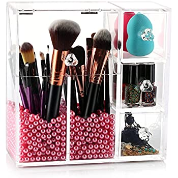 Amazoncom Makeup Brush Holder HABIBEE Acrylic Makeup Organizer - Acrylic makeup organizer