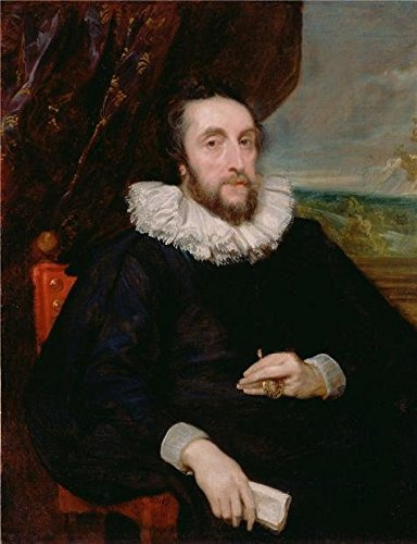 (Oil Painting 'Thomas Howard, Second Earl Of Arundel,1621 Anthony Van Dyck' Printing On Perfect Effect Canvas , 18x23 Inch / 46x60 Cm ,the Best Bedroom Gallery Art And Home Decoration And Gifts Is This Imitations Art DecorativePrints On Canvas)