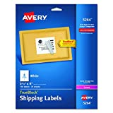 "Avery Shipping Labels with TrueBlock Technology for Laser Printers 3-1/3"" x 4"", Pack of 150 (5264)"