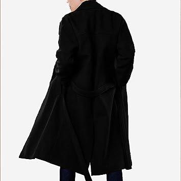 NSDY Abrigo Hombre Tallas Grandes Abrigos para Hombre Sueltos Abrigos Abrigo De Invierno Abrigos De Gran Tamaño para Hombre Abrigos Largos Negros M: ...