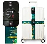 #10: Luggage Strap Cross Straps TSA Combination Lock Adjustable Travel Belts Suitcase Belt