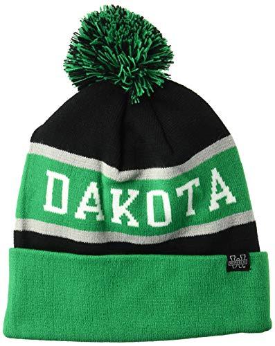 North Dakota Colleges - W Republic NCAA North Dakota NL The Legend Beanie, One Size, Kelly/Black