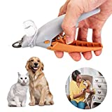 AHuShi Pet Nail Clippers and Trimmer Professional Stainless Steel Illuminated Nail Clipper Claw Care with LED Light and Safety Guard Safety Guard to Avoid Over-Cutting for Dogs and Cats