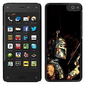 // PHONE CASE GIFT // Duro Estuche protector PC Cáscara Plástico Carcasa Funda Hard Protective Case for Amazon Fire Phone / Bobba Fett - Bounty Hunter Grunge /