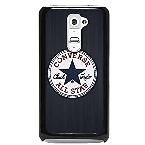 Converse All Star Chuck Taylor Phone Case Cover MK09 for LG G2 Black Hard Case_Black
