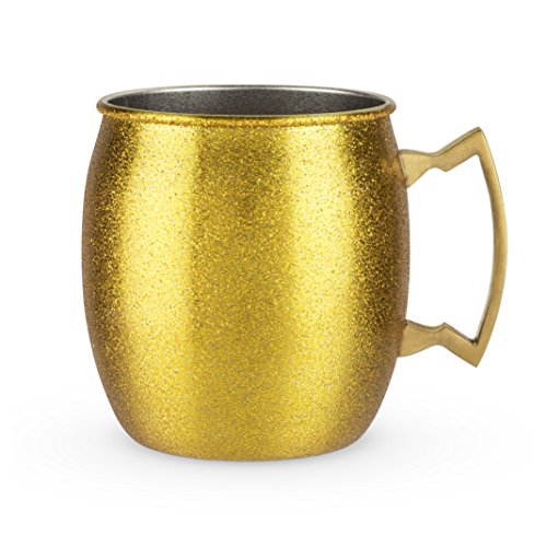 Blush Comet: Gold Glitter Moscow Mule -