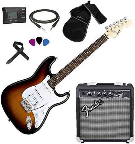 Fender, Squier Stratocaster SB HSS - Kit de guitarra eléctrica ...