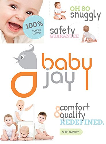 Baby Jay Cotton Undershirt T-Shirt, Short Sleeve Lap Shoulder - WTSE 6-12 5-Pack by Baby Jay (Image #5)