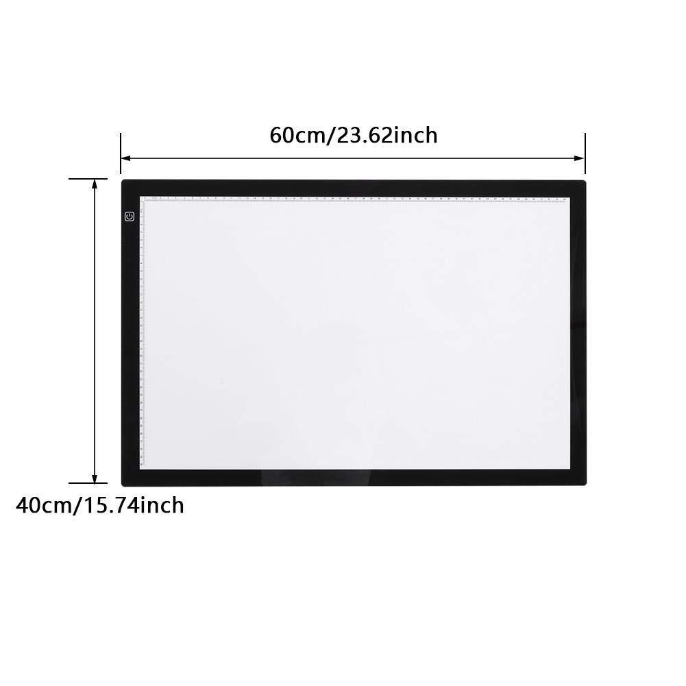 A3 A4 Ultra-Mince Table Lumineuse Panneau /à Dessin LED Portable avec Contr/ôle Tactile USB pour Dessin SOULONG Tablette Lumineuse avec 3 Niveaux Luminosit/é R/églable A2 Architecture Calligraphie